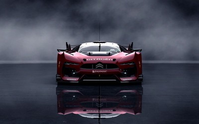 Front view of a red Citroen GT wallpaper