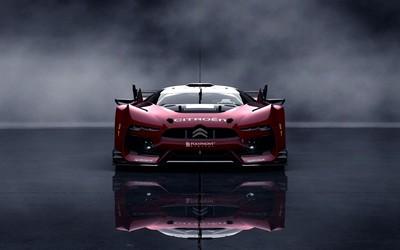 Front view of a red Citroen GT Wallpaper