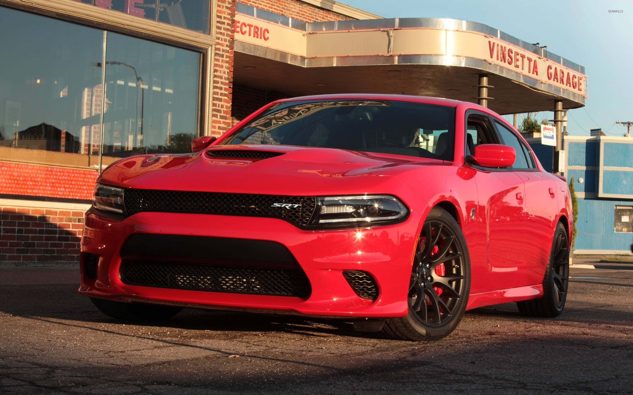 Front view of a red Dodge Charger wallpaper Car wallpapers
