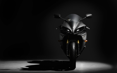 Front view of a Yamaha YZF-R1 wallpaper
