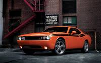 Front view of an orange Dodge Challenger RT Classic wallpaper 1920x1200 jpg