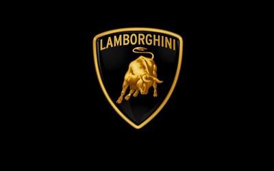 Golden Lamborghini logo wallpaper
