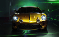 Golden Willys AW 380 Berlinetta front view wallpaper 3840x2160 jpg