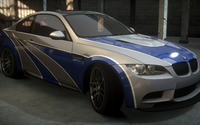 Gray and blue BMW M3 front side view wallpaper 1920x1080 jpg