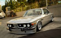 Gray BMW E9 front side view wallpaper 1920x1080 jpg