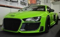 Green Audi R8 GT Spyder close-up wallpaper 1920x1080 jpg