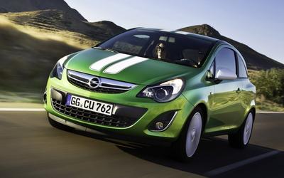 Green Opel Corsa Wallpaper