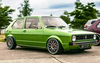 Green Volkswagen Golf Mk1 side view wallpaper 1920x1080 jpg