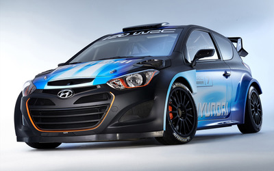 Hyundai i20 WRC front view Wallpaper