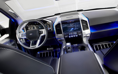 Interior of a Ford Expedition wallpaper