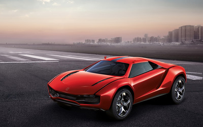 Italdesign Giugiaro Parcour top view Wallpaper