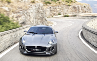 Jaguar C-X16 on the road wallpaper