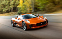 Orange Jaguar C-X75 front view wallpaper 2560x1600 jpg