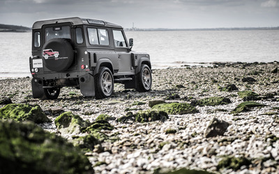 Kahn Land Rover Defender back side view wallpaper
