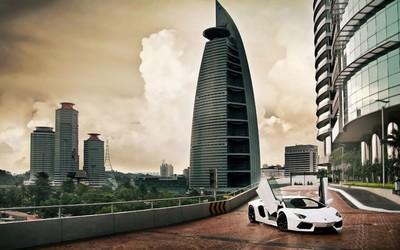 Lamborghini Aventador in Kuala Lumpur wallpaper