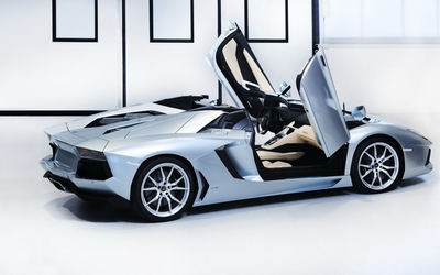 Lamborghini Aventador LP 700-4 Roadster side view wallpaper