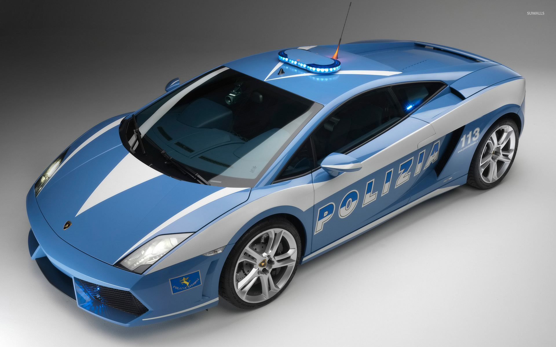 lamborghini gallardo police car wallpaper 1920x1200 jpg - Lamborghini Gallardo Wallpaper Blue