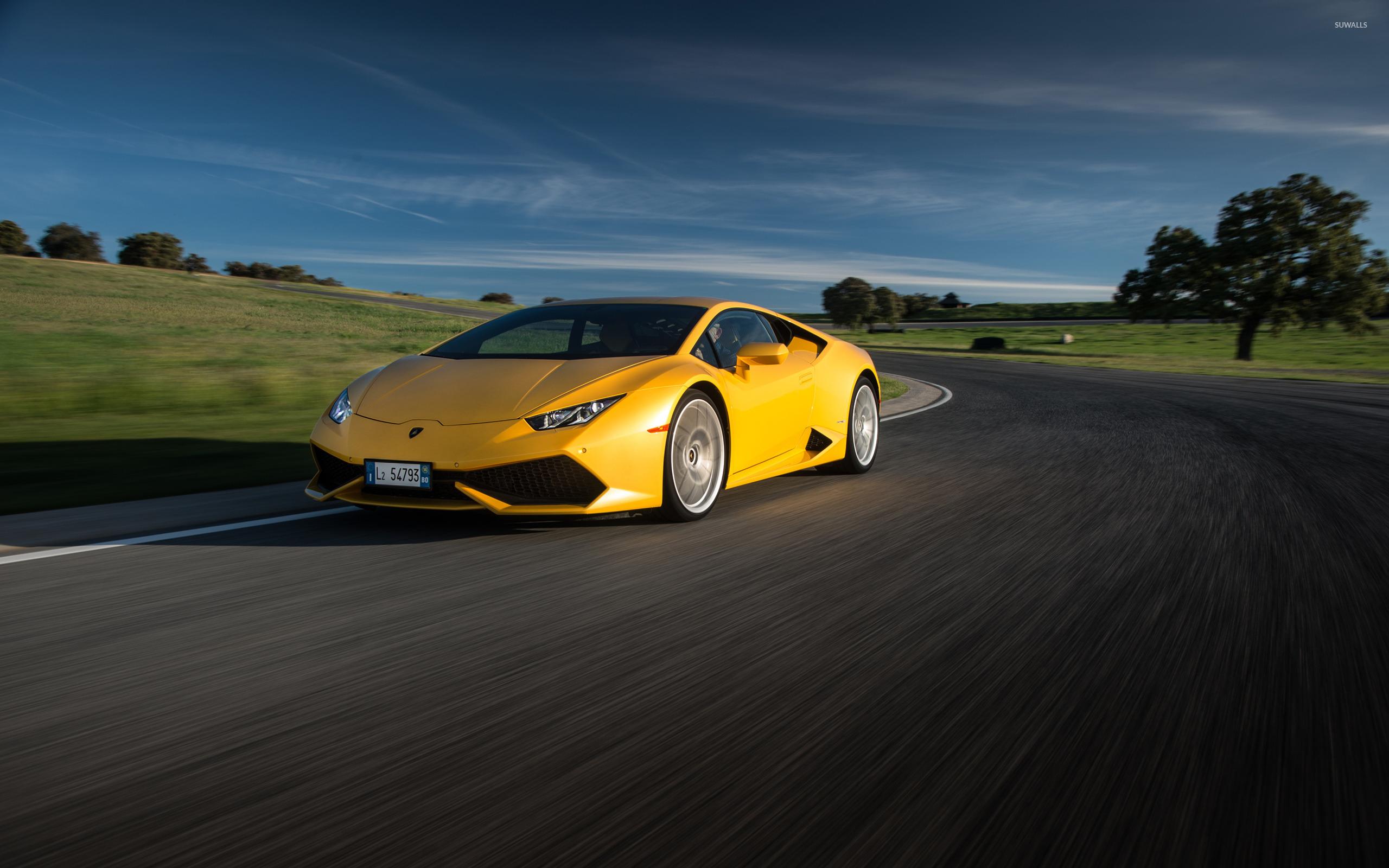 желтый автомобиль спортивный lamborghini huracan yellow car sports бесплатно