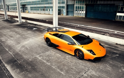 Lamborghini Murcielago top view wallpaper