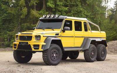 Yellow Mansory Mercedes-Benz G-Class wallpaper