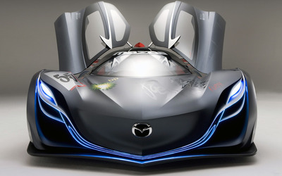 Mazda Furai front side view with opened doors wallpaper