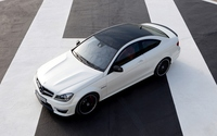 Mercedes-Benz C-Class top view wallpaper 1920x1200 jpg