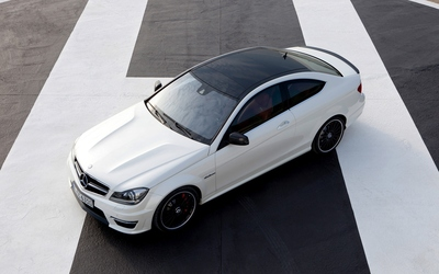 Mercedes-Benz C-Class top view wallpaper