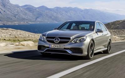 Mercedes-Benz E-Class on the road wallpaper