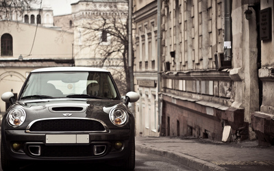MINI Cooper S on the street wallpaper