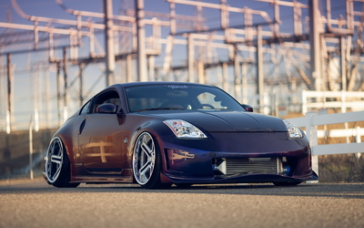 Nissan 350Z front side view wallpaper