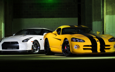 Nissan and a Dodge wallpaper