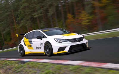 Opel Astra TCR front side view wallpaper
