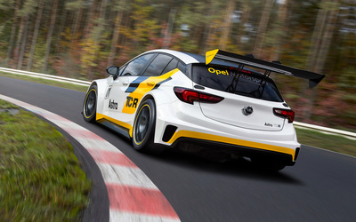 Opel Astra TCR side view wallpaper
