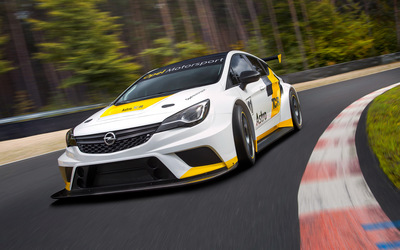 White Opel Astra TCR wallpaper