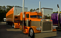 Orange Peterbilt Truck wallpaper 1920x1200 jpg