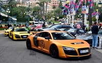 Orange Prior Design Audi R8 front side view wallpaper 1920x1200 jpg
