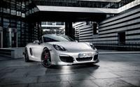 Parked silver Porsche Boxster wallpaper 2560x1600 jpg