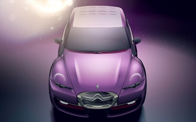 Pink Citroen Revolte top view wallpaper