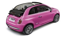 Pink FIAT 500 Convertible back side view wallpaper 1920x1200 jpg