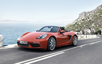 Porsche 718 Boxster on the road wallpaper 2560x1600 jpg