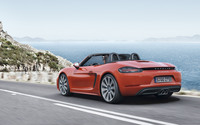 Porsche 718 Boxster by the sea wallpaper 2560x1600 jpg