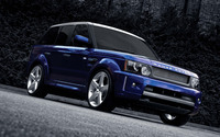 Purple Land Rover Range Rover Sport on the road wallpaper 1920x1200 jpg