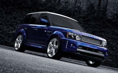 Purple Land Rover Range Rover Sport on the road wallpaper