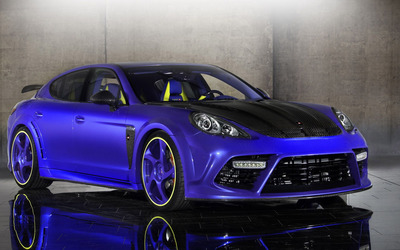 Purple Mansory Porsche Panamera front side view Wallpaper