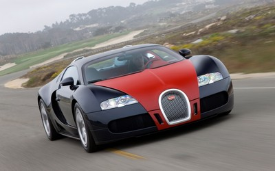 Red and black Bugatti Veyron wallpaper