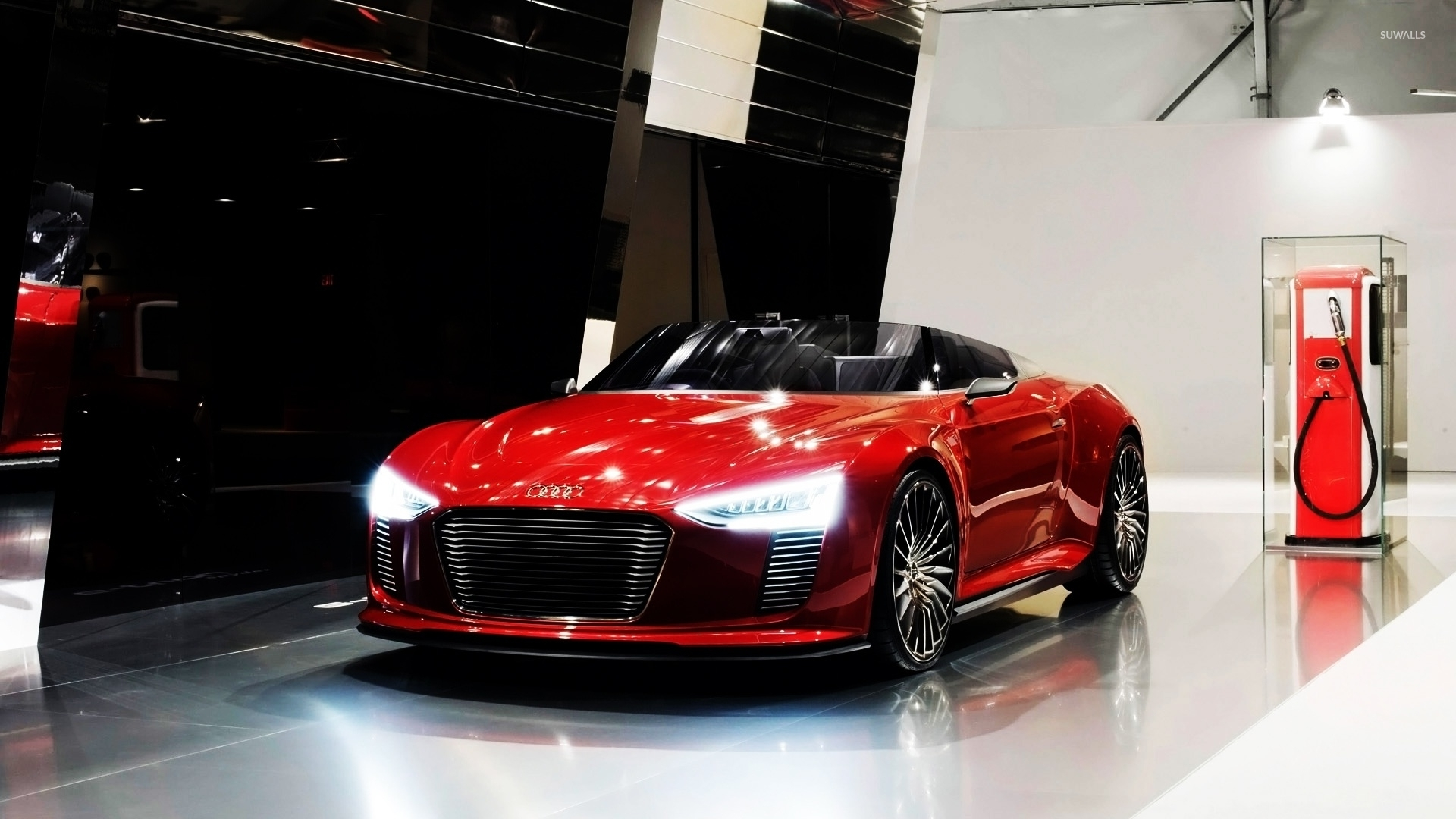 Red Audi E Tron Convertible Wallpaper