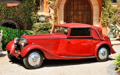 Red classic car wallpaper