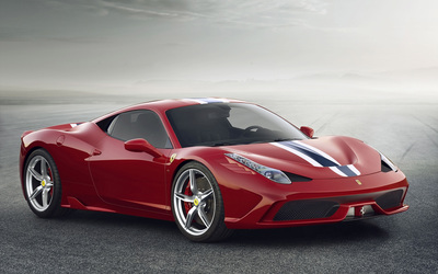 Red Ferrari 488 GTB front side view wallpaper