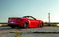 Red Ferrari California back side view wallpaper 2560x1600 jpg