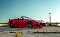 Red Ferrari California front side view wallpaper 2560x1600 jpg